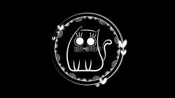 手绘猫咪视频素材