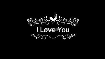 I Love You手绘视频素材