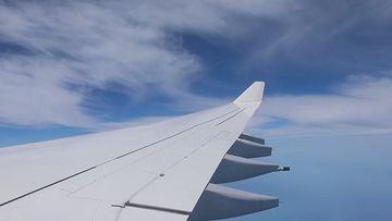 飞机翅膀视频素材