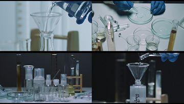 化妆品科研视频素材
