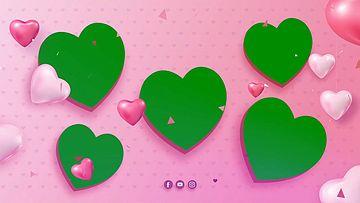 婚礼心型气球绿幕视频素材