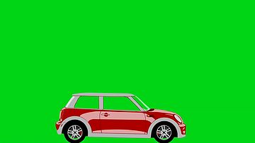 不同年代的车穿过镜头绿幕视频素材